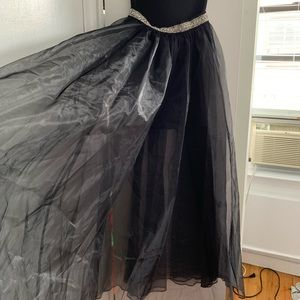 bebe Dresses - Strapless organza maxi skirt dress